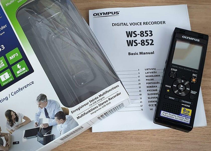 Diktiergerät Olympus WS853 - Lieferumfang