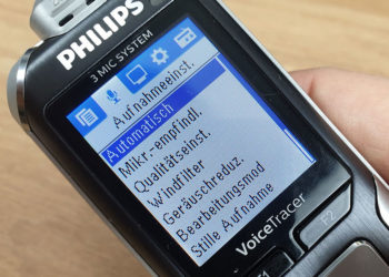 Philips Voice Tracer 6010 - Einstellungen