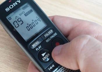 Sony ICD-PX240 Diktiergerät - Bedienung